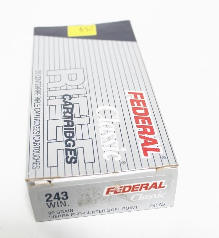 Federal  243 WIN 80-grain Pro-Hunter soft point | Hessney