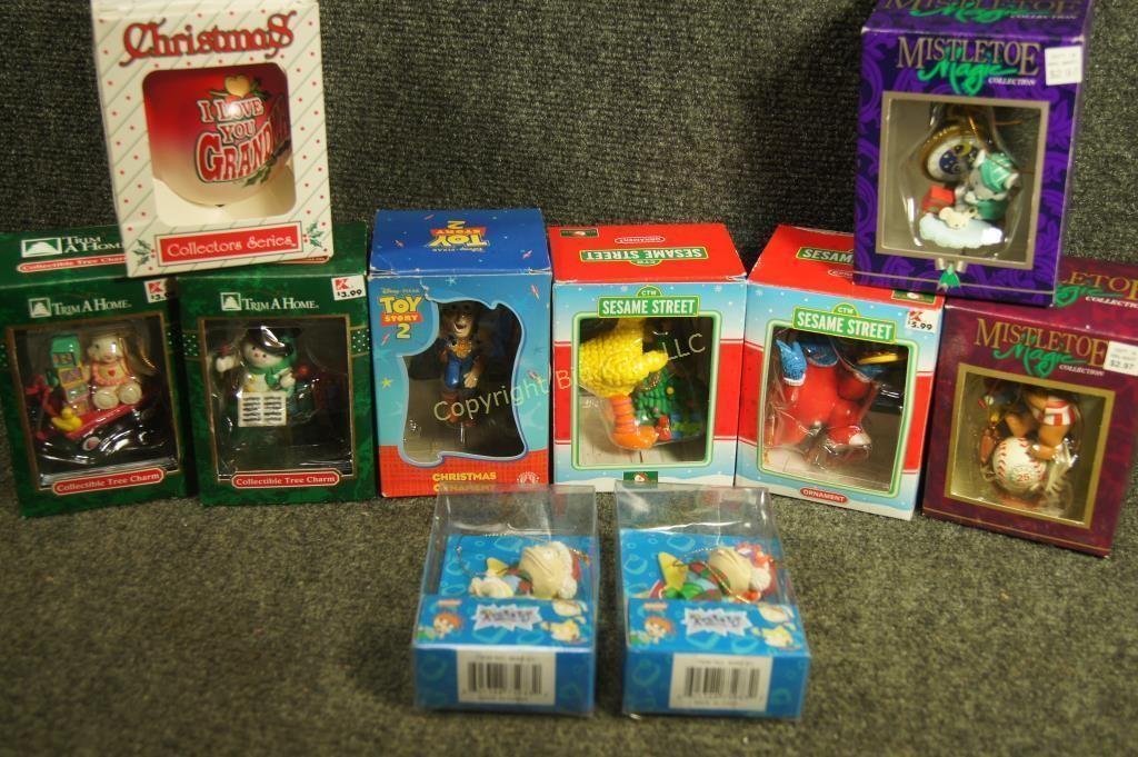 Lot 128 Rugrats Sesame Street Toy Story Ornaments