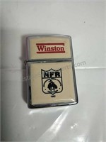 Zippo Winston NFR Lighter and Leather Pouch | EstateSaleExperts com