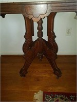 Marble top table, 30 long, 31 tall, 20 deep