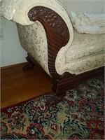 Chippendale Style sofa, 36t, 86l, 29d
