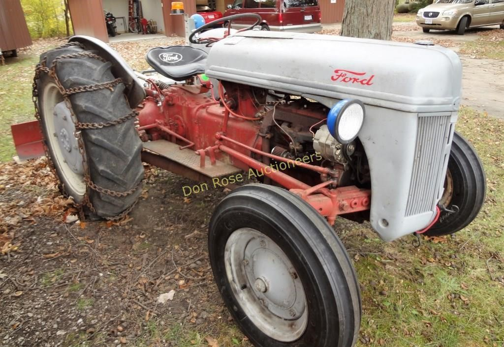 9n Ford Tractor >> 9n Ford Tractor With 6 Scraper Blade Don Rose Auctioneers