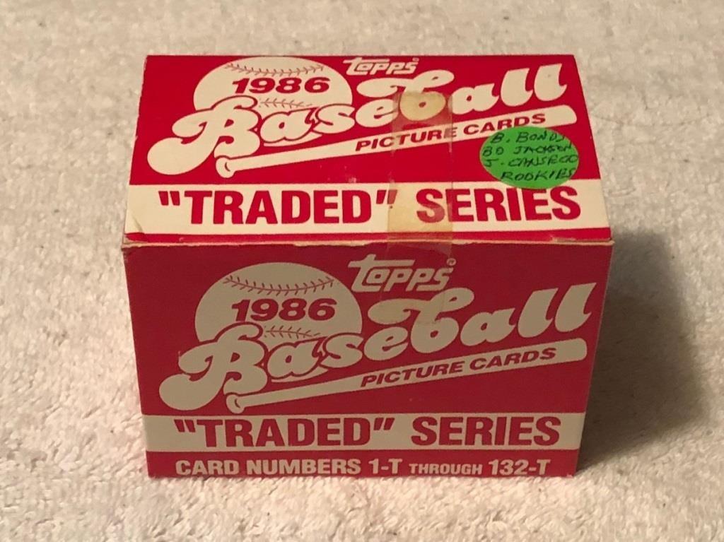 1986 Topps Traded Baseball Card Set Final Lap Thrift Shop