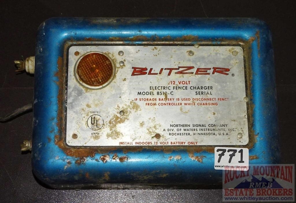 Blitzer 12 Volt 8512-C Electric Fench Charger  | Auctioneers