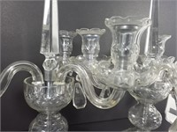 Paire de chandeliers en verre Czechoslovakia