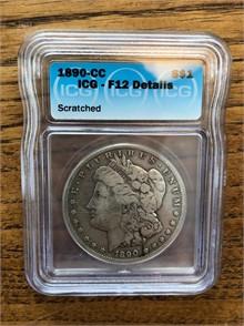 1890-CC MORGAN SILVER DOLLAR Dollars U S  Coins Auction