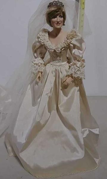 Princess Diana Bridal Doll W Yoder Auction Llc