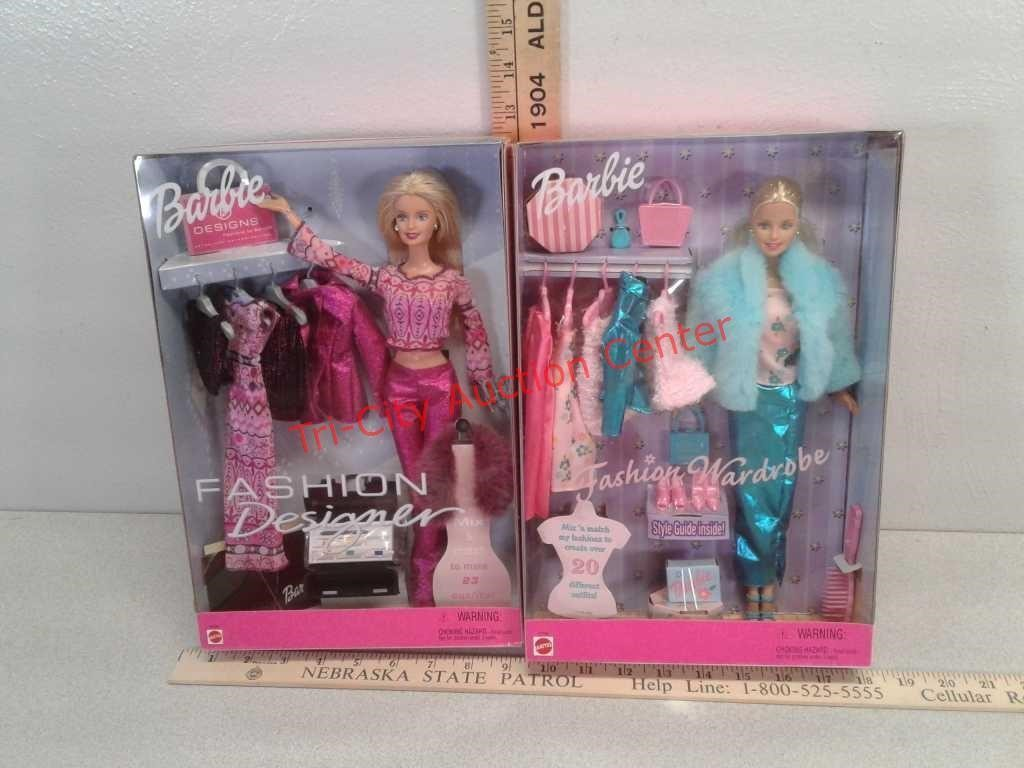 2 New Barbie Dolls Fashion Designer And Fashion Tri City Auction Center