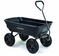Gorilla Carts Poly Garden Dump Cart with Steel