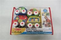 Melissa & Doug K's Kids Pull-Back Town Vehicles