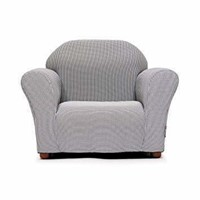 Keet Roundy Kid's Chair Gingham, Brown