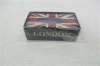 Vintage British Style Tin Metal London Double