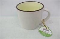 (4) Simple Speckled Brown Ceramic Coffee Mugs