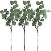 3 PCS Artificial Silver Dollar Eucalyptus Leaf