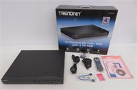 TRENDnet 16-Channel HD PoE+ NVR with 4 TB HDD, Up