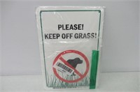 Please Keep off Grass! No Dogs Sign by SmartSign