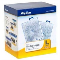 Aqueon QuietFlow Filter Cartridge, Large, 12-Pack