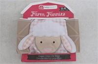 Baby Aspen Farm Fannies Lamb Diaper Cover, Pink,
