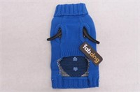 "Fab Dog Holiday Snowman Knit Turtleneck, Blue, 10"""