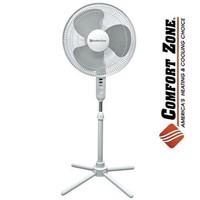 """Comfort Zone CZST161BTE 16"""" 3-Speed White"""