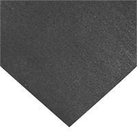 Rubber Cal Recycled Floor Mat, Black, 3/8-Inch x 4
