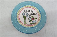 Young's Inc 22568 Walk By Ceramic Snack Plate,