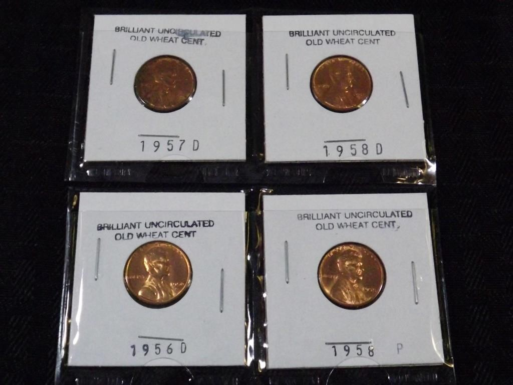 4) Near Uncirculated Wheat Pennies | Ryan Turner