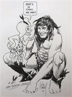 Joe Kubert Specialty Piece. With Tarzan.