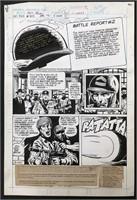 Joe Kubert. Sgt Rock. Comic Page.