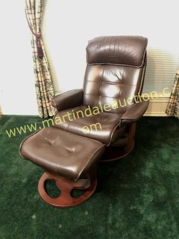 Swell Leather Rest By Lane Chair Ottoman Martindale Auction Pabps2019 Chair Design Images Pabps2019Com