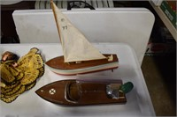 Wooden Battery Boats