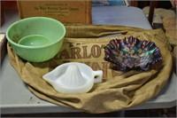 Fireking Bowls, Carnival Glass,