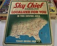 Texaco Gasoline Sky Chief Sign