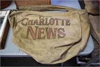 1930's Charlotte News Cloth Bag