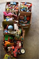 6 Large Boxes Old Toys