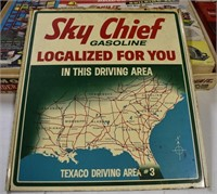 Old Sky Chief Gasoline Metal Sign