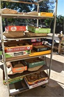 Boxes Arrowheads, Pottery, Stones, etc