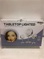 TABLETOP LIGHTED MAKE UP MIRROR