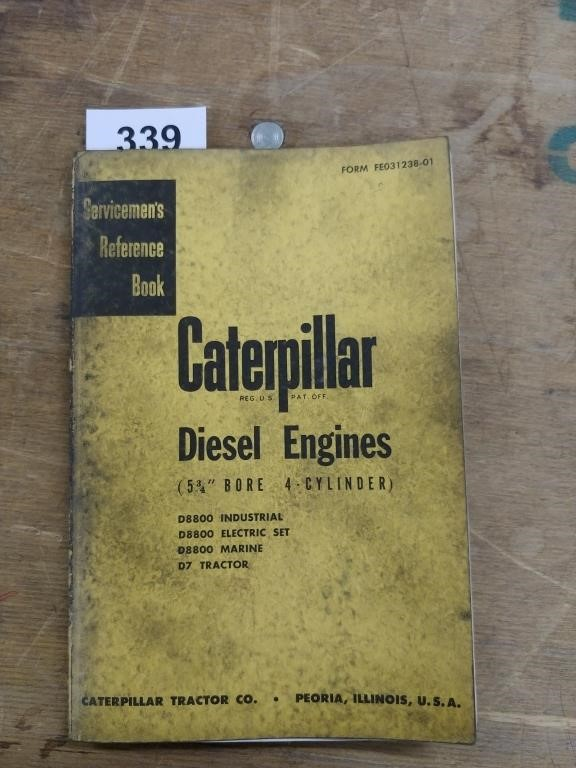 Servicemen's Reference Book For Cat Diesel | GoBidToday com