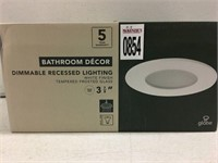BATHROOM DIMMABLE RECESSED LIGHTING