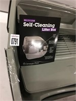 SELF CLEANING LITTER BOX (CRACKED TOP COVER)