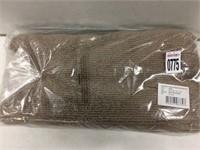 TEXTURED TOWEL 4 PIECE SET BROWN