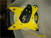 Stanley Fat Max 100' Measuring Tape, $5.00 Reserve