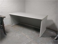 Grey Modular Desk w/ Modesty Panels, $20.00 Reserve