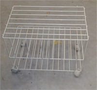 Wire Cart with Casters, $5.00 Reserve