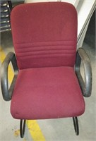 Burgundy Fabric Chairs w/Arms (set of 4), $30.00 Reserve