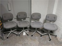 Grey Secretary Chairs (set of 4), $25.00 Reserve