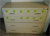 4-Drawer Metal Cabinet w/ Removable inserts, $25.00 Reserve