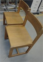 Wide Seat Solid Wood Chairs (set of 6), $25.00 Reserve