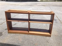Solid Wood Bookcase, $35.00 Reserve